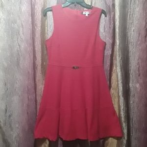 J-Lopez Tank top Skater Skirt Dress Hot Pink